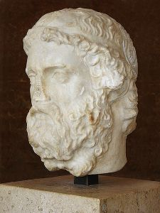 2nd-3rd century Roman bust of Anacreon, currently located at the Louvre